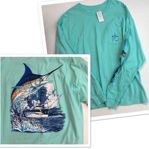 9dd293f9f253b Guy Harvey Shirts - Guy Harvey Marlin Sailfish Fishing Shirt XL NWT